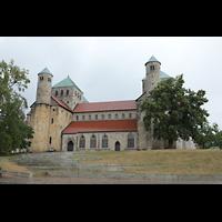 Hildesheim, St. Michaelis, Außenansicht von der Burgstraße aus