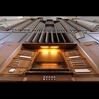Braunschweig, St. Andreas, Spieltisch mit Orgel perspektivisch