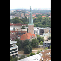 Braunschweig, St. Andreas, Aussicht vom Turm auf St. Petri