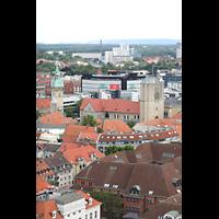 Braunschweig, Dom St. Blasii (Hauptorgel), Aussicht vom Turm der Andreaskirche auf den Dom