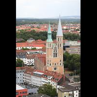 Braunschweig, St. Andreas, Aussicht vom Turm auf St. Katharinen