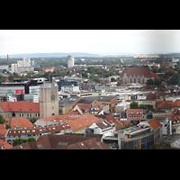 Braunschweig, St. Andreas, Aussicht vom Turm auf den Dom (links) und St. Ägidien (rechts)