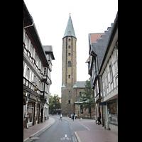 Goslar, Marktkirche St. Cosmas und Damian, Blick vom Hohen Weg auf den Südturm