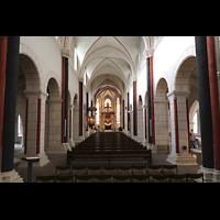 Goslar, Marktkirche St. Cosmas und Damian, Innenraum in Richtung Chor