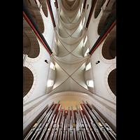 Goslar, Marktkirche St. Cosmas und Damian, Orgel und Blick ins Gewölbe