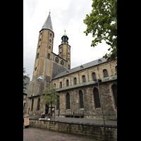 Goslar, Marktkirche St. Cosmas und Damian, Außenansicht vom Marktkirchhof aus