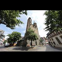 Goslar, Marktkirche St. Cosmas und Damian, Außenansicht von der Marktstraße aus