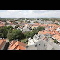 Goslar, Marktkirche St. Cosmas und Damian, Aussicht vom Nordturm auf die Kaiserpfalz