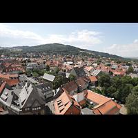 Goslar, Marktkirche St. Cosmas und Damian, Aussicht vom Nordturm nach Westen