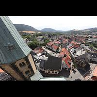 Goslar, Marktkirche St. Cosmas und Damian, Aussicht vom Nordturm nach Südwesten