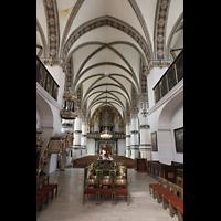 Wolfenbüttel, Hauptkirche Beatae Mariae Virgine, Innenraum in Richtung Orgel