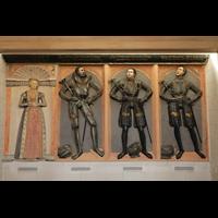 Wolfenbüttel, Hauptkirche Beatae Mariae Virgine, Epitaph von Herzog Heinrich d.J., seinen Söhnen Karl Viktor und Philipp Magnus und seiner 2. Ehefrau Herzogin Sophie