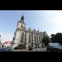 Wolfenbüttel, Hauptkirche Beatae Mariae Virgine, Südansicht vom Michael-Praetorius-Platz aus