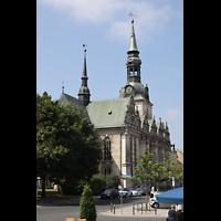 Wolfenbüttel, Hauptkirche Beatae Mariae Virgine, Ansiocht von Nordosten vom Holzmarkt aus
