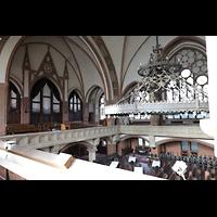 Berlin (Wedding), Stephanuskirche, Blick von der rechten Seitenempore zur Orgel