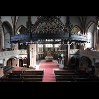 Berlin (Wedding), Stephanuskirche, Blick vom Spieltisch in die Kirche