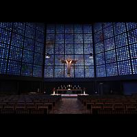 Berlin (Charlottenburg), Kaiser-Wilhelm-Gedächtnis-Kirche, Altarraum mit segnendem Christus