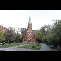 Berlin (Wilmersdorf), St. Ludwig, Ludwigskirchplatz mit Ludwigskirche