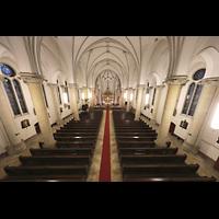 Berlin (Prenzlauer Berg), Ss.Corpus Christi Kirche, Blick von der Empore in die Kirche
