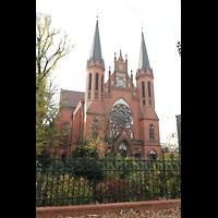 Berlin (Tiergarten), St. Paulus Dominikanerkloster, Außsnansicht mit Fassade