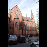 Berlin (Tiergarten), St. Paulus Dominikanerkloster, Außenansicht, östliches Seitenschiff und Querhaus