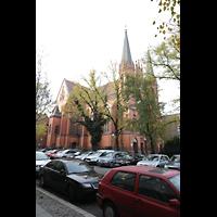 Berlin (Tiergarten), St. Paulus Dominikanerkloster, Außenansicht von Nordosten
