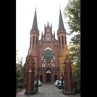 Berlin (Tiergarten), St. Paulus Dominikanerkloster, Fassade mit Türmen