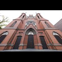 Berlin (Tiergarten), St. Paulus Dominikanerkloster, Fassade perspektivisch