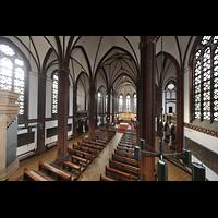Berlin (Tiergarten), St. Paulus Dominikanerkloster, Blick von der Orgelempore in die Kirche