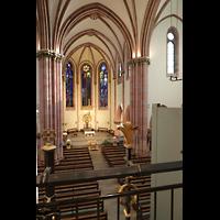 Berlin (Wilmersdorf), St. Ludwig, Blick von der Orgelempore in die Kirche