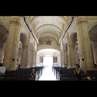 La Habana (Havanna), Catedral de San Cristóbal, Innenraum in Richtung (digitaler!) Orgel
