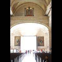 La Habana (Havanna), Catedral de San Cristóbal, Orgelempore mit digitaler Orgel und stummem Pfeifenprospekt
