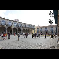 La Habana (Havanna), Catedral de San Cristóbal, Plaza de la Catedral, links der Palacio del Conde Lombillo