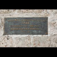 La Habana (Havanna), Auditorio San Francisco de Paula, Bronzetafel an der Kirche (jetzt Konzertsaal)