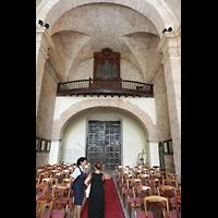 La Habana (Havanna), Auditorio San Francisco de Paula, Innenraum in Richtung Orgel