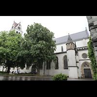 Ravensburg, Kath. Stadtkirche Liebfrauenkirche (Hauptorgel), Außenansicht von der Schussenstraße