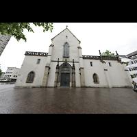 Ravensburg, Kath. Stadtkirche Liebfrauenkirche (Hauptorgel), Fassade und Westportal