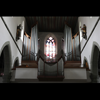 Ravensburg, Kath. Stadtkirche Liebfrauenkirche (Hauptorgel), Orgelempore