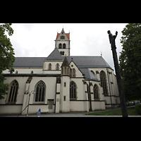 Ravensburg, Kath. Stadtkirche Liebfrauenkirche (Hauptorgel), Seitenansicht von der Herrenstraße