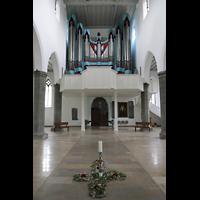 Ravensburg, St. Jodok, Innenraum in Richtung Orgel