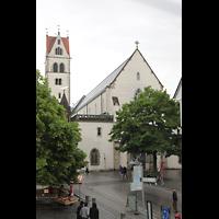 Ravensburg, Kath. Stadtkirche Liebfrauenkirche (Hauptorgel), Westfassade und Turm