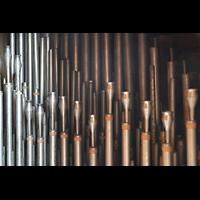 Weingarten, Basilika St. Martin - Große Orgel, Pfeifen der Hautbois im Brüstungspositiv