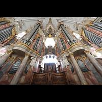 Weingarten, Basilika St. Martin - Große Orgel, Orgel mit Spieltisch
