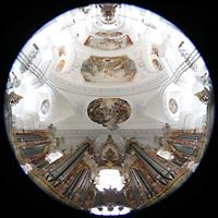 Weingarten, Basilika St. Martin - Große Orgel, Gabler-Orgel mit gesamtem Innenraum der Basilika