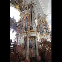 Weingarten, Basilika St. Martin - Große Orgel, Rechter Teil der Hauptorgel