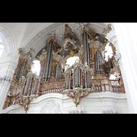 Weingarten, Basilika St. Martin - Große Orgel, Orgel seitlich