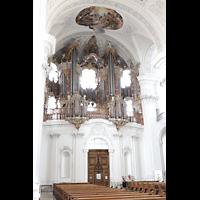 Weingarten, Basilika St. Martin - Große Orgel, Orgelempore