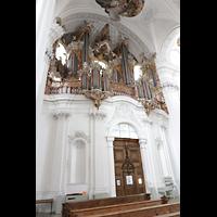 Weingarten, Basilika St. Martin - Große Orgel, Hauptorgel seitlich