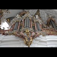 Weingarten, Basilika St. Martin - Große Orgel, Linkes Brüstungspositiv