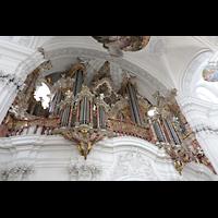 Weingarten, Basilika St. Martin - Große Orgel, Orgel seitlich perspektivisch